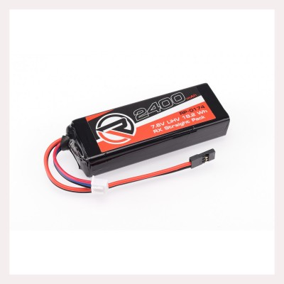 RUDDOG 2400mAh 7.6V LiHV RX Straight Pack Fits Associated,Mugen