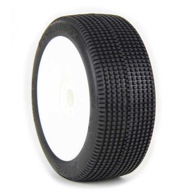 AKA DoubleDown 1/8 Buggy Tires (Pre-Mounted)(Medium - Long Wear)(2)