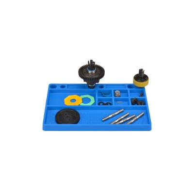 Jconcepts parts tray, rubber material - blue