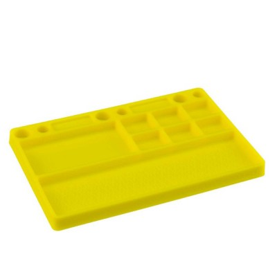 Jconcepts Dirt Racing Products - parts tray, rubber material - yellow